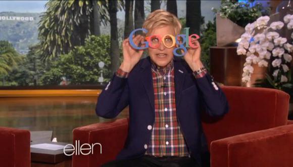Ellen DeGeneres se burló de la venta pública de Google Glass