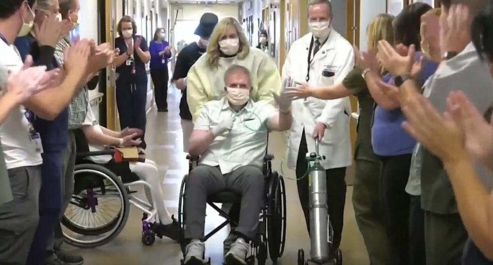 Man hospitalized for coronavirus for 223 days leaves hospital after being