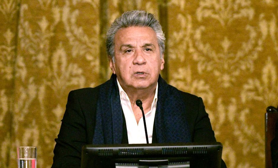 """Lenín Moreno, presidente de Ecuador, celebró la victoria del """"Sí""""en el referéndum y la consulta popular. (Foto: AFP/Juan Ruiz)"""