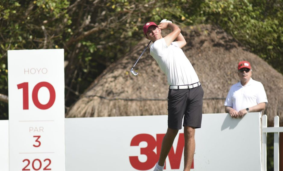Patrick Sparks, en el hoyo 10, del Camaleón Golf Club. (Foto: Enrique Berardi / LAAC)