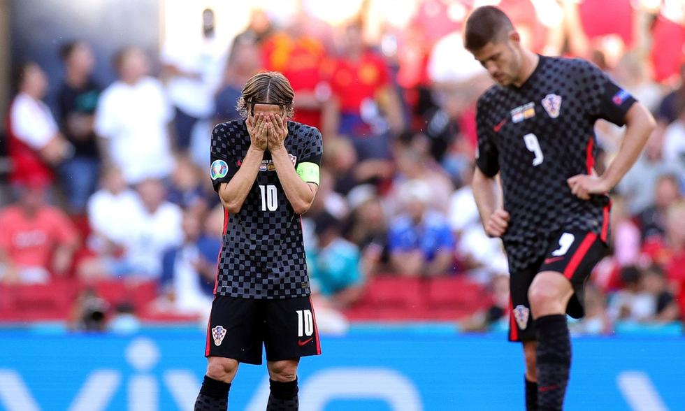 Croacia y España se midieron por el boleto a cuartos de final de la Eurocopa | Foto: EFE