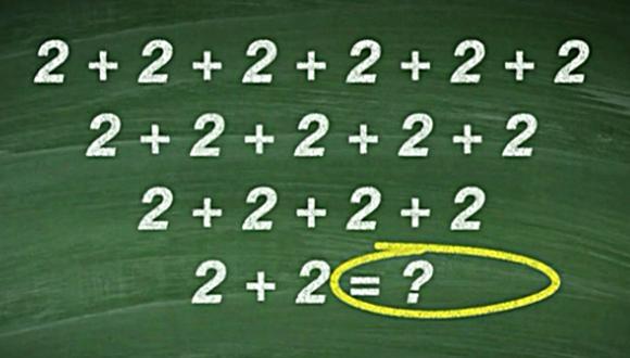 Reto viral matemática, publicado en Facebook por un programa de televisión, acumula miles de reacciones en Internet. (Foto: Facebook/Perspectivas desde Buenos Aires)
