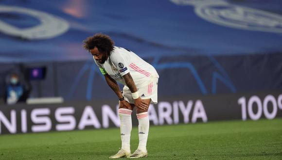 Marcelo se lesionó y se perdería el partido de Champions League contra Atalanta. (Foto: EFE)