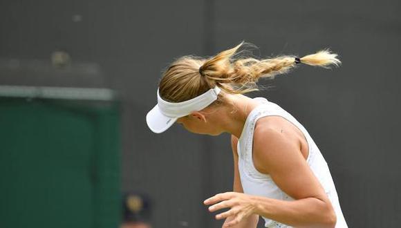 La tenista danesa Caroline Wozniacki tuvo que pedirle al juez de silla que detuviera el encuentro por una gran cantidad de insectos que le impedían realizar el saque en el juego ante Ekaterina Makarova. (Foto: AP)
