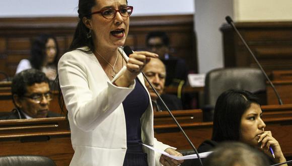 La parlamentaria del movimiento Nuevo Perú Marisa Glave señaló que la prioridad de este Gabinete y del Gobierno deben ser los ciudadanos, los trabajadores y no las grandes empresas. (Foto: Congreso)
