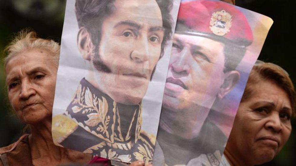 Bolívar es el mito fundacional de la revolución bolivariana. El otro, tras su muerte, es Chávez. Foto: AFP