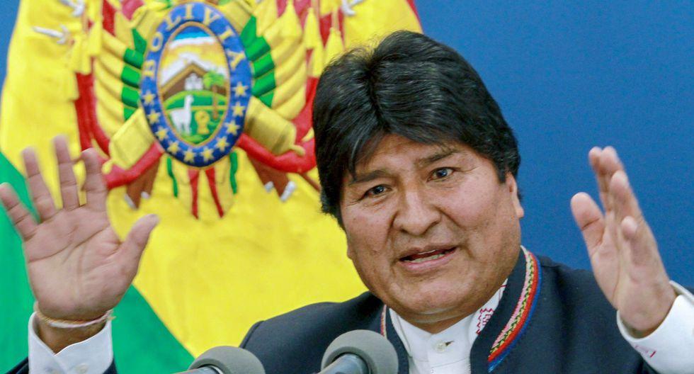 """Evo Morales saluda el """"pequeñísimo"""" aporte del G7 contra los incendios en la Amazonía. (AFP)."""