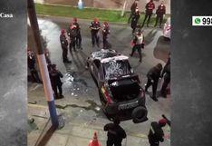 Dos policías heridos tras despiste de patrullero en el Callao
