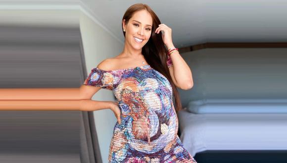 Karen Schwarz muestra la carita de su hija Cayetana en la semana 37 de su embarazo. (Foto: Instagram)