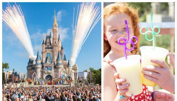 Walt Disney se prepara para eliminar sus cañitas de plástico de un solo uso y agitadores de plástico en todos sus locales a nivel mundial.