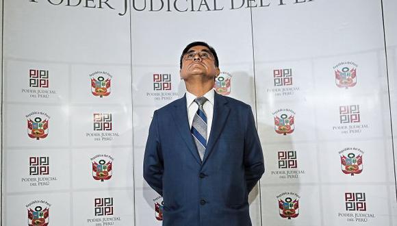 Hasta la fecha se desconocía que al suspendido juez supremo César Hinostroza se le había abierto una investigación por el delito de lavado de activos. (Foto: Alonso Chero / Archivo)