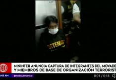 Sendero Luminoso: Mininter anuncia captura de 70 integrantes en Lima