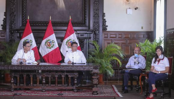 Analistas evalúan el protagonismo de distintos ministros, frente al liderazgo del presidente Martín Vizcarra de la estrategia comunicacional en torno a la emergencia por el coronavirus. (Foto: Presidencia)