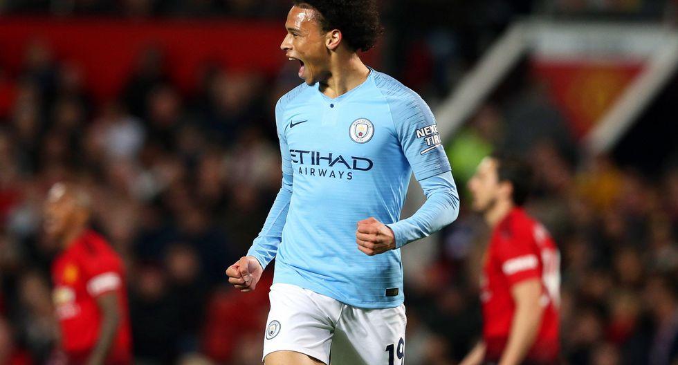 Manchester United vs. Manchester City: Sané anotó el 2-0 tras floja reacción de David de Gea. (Foto: EFE)