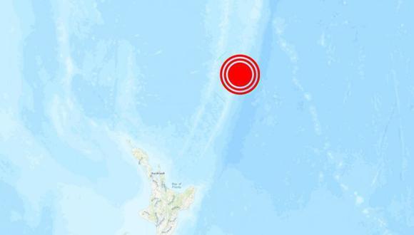 Sismo de magnitud 6,3 sacude las islas Kermadec de Nueva Zelanda. (USGS).