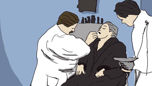 """""""La odontología está en auge en otros países"""". (Ilustración: Giovanni Tazza)."""
