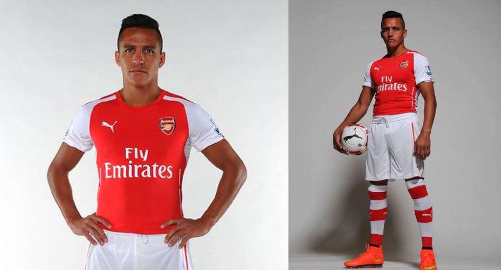Alexis Sánchez posó con la nueva indumentaria del Arsenal FC - 1