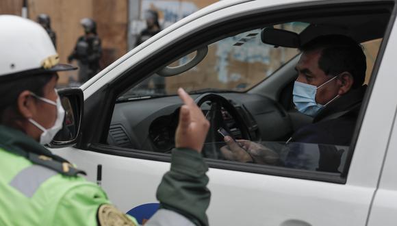 Ciudadanos podrán usar vehículos particulares. (Foto: Leandro Britto/GEC)