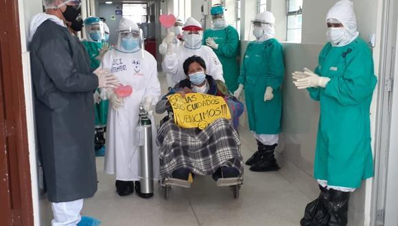 Dieron de alta a técnico de farmacia que estuvo 63 días en UCI (Foto: Diresa Junín).