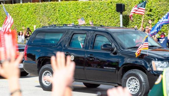 Tras dejar la presidencia el pasado 20 de enero, Donald Trump fue recibido por sus seguidores en Palm Beach. GETTY IMAGES