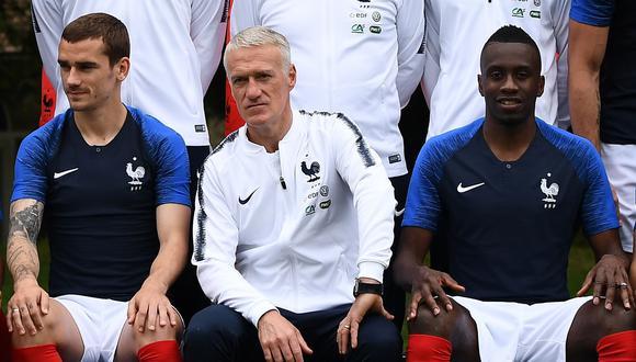 Deschamps con la selección francesa. (Foto: AFP)