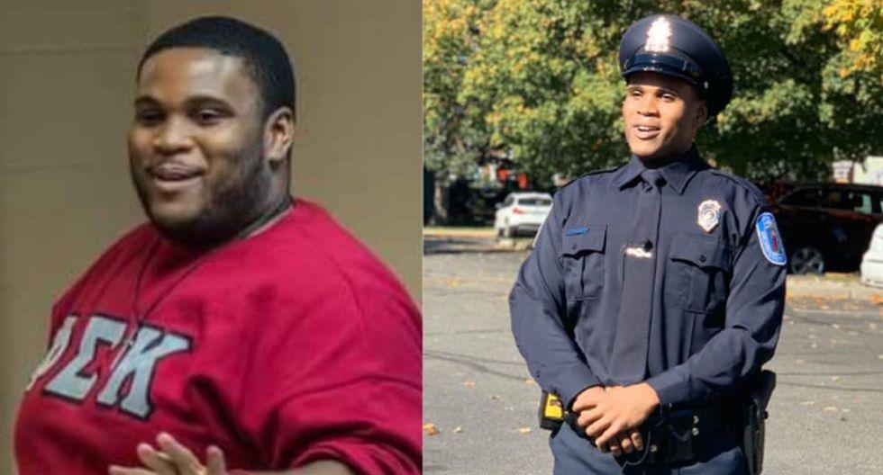 Un hombre perdió 80 kilos de peso para lograr su sueño de convertirse en policía | Foto: Facebook / Richmond Police Department