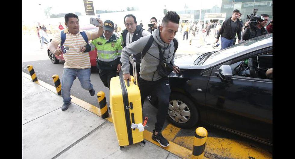 Christian Cueva llegó a Lima en medio de su complicada situación con Santos FC. (Foto: Francisco Neyra / GEC)