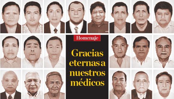 Un homenaje a los médicos que fallecieron atendiendo a los pacientes COVID-19