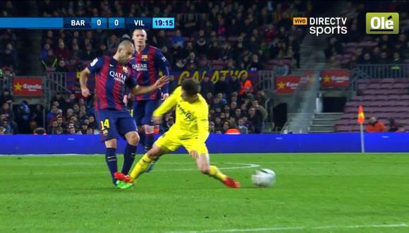 Barcelona: Mascherano sufrió terrible falta por parte de Vietto