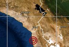 Tacna: sismo de magnitud 4.5 se reportó en esta ciudad, señala IGP