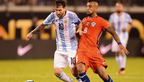 Argentina vs. Chile chocan este lunes 14 de junio en Río de Janeiro. (Foto: AFP)