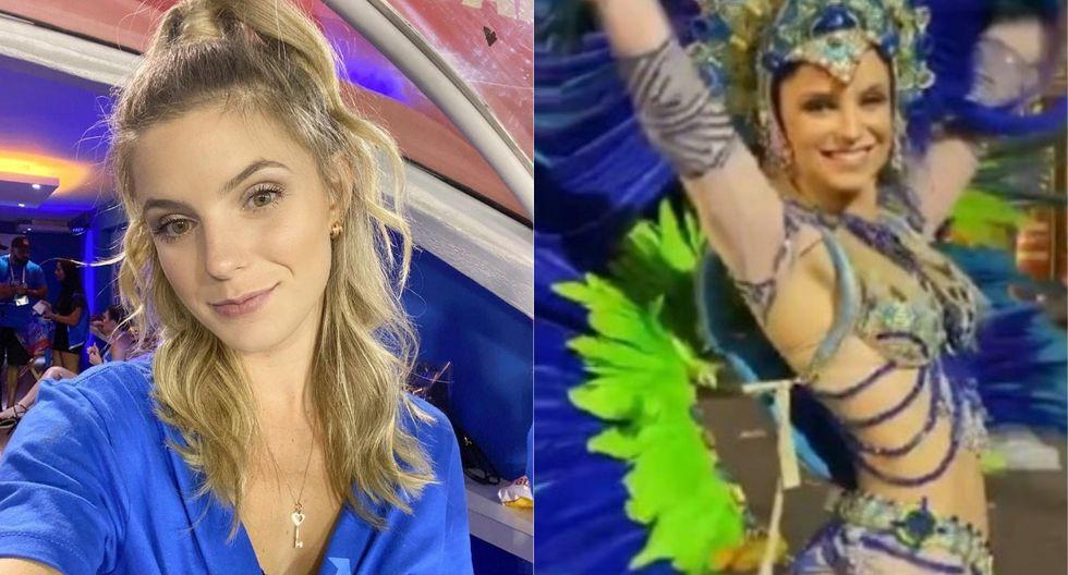 Thaísa Leal participó en el Carnaval de Rio de Janeiro 2020. (Foto: Captura Instagram)