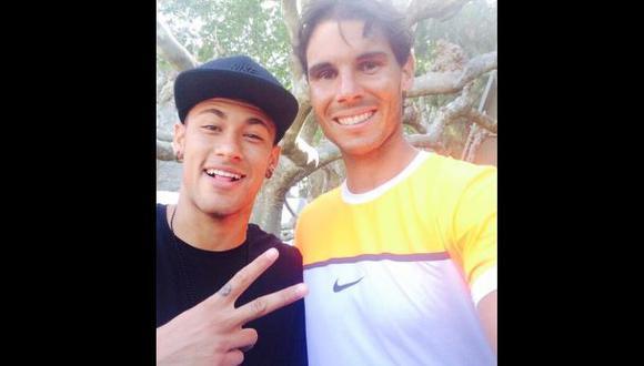 Neymar celebró con Nadal triunfo del español en Barcelona