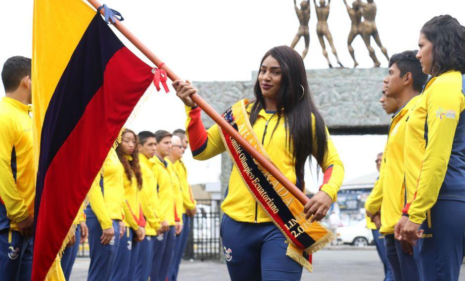 La halterista Tamara Salazar será la abanderada del contingente que Ecuador llevará a los Juegos Panamericanos Lima 2019. (Foto: Comité Olímpico Ecuatoriano)