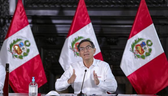"""""""Tenemos que llegar con el crédito que requieren las empresas, pero no solo con las empresas que conoce el sistema bancario"""", dijo Vizcarra. (Foto: Presidencia)"""