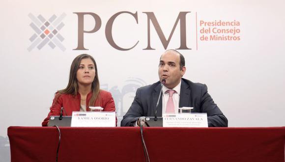 """""""Como ya lo ha hecho en la comisión, lo mismo hará a nivel del pleno del Congreso para explicar los temas de esta huelga"""", dijo Fernando Zavala sobre Marilú Martens. (Foto: PCM)"""