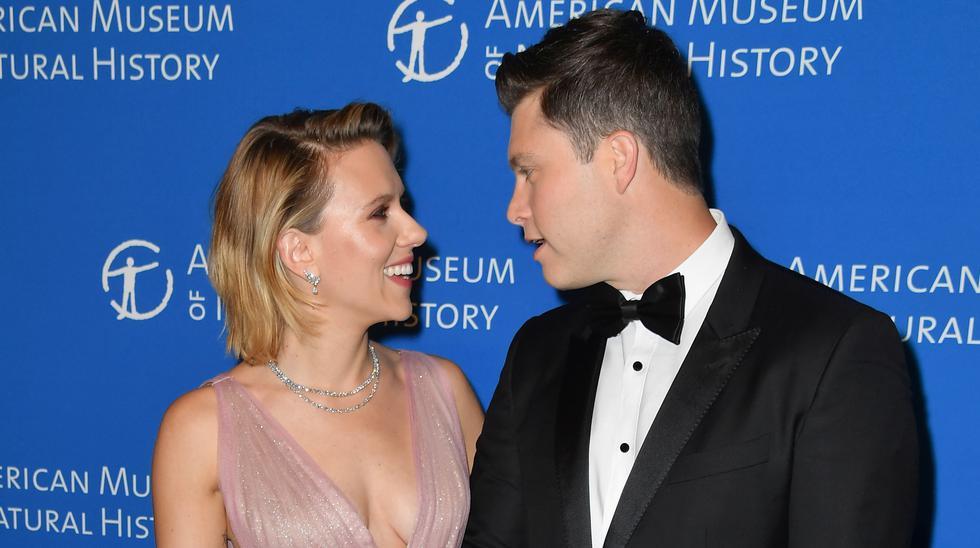 Scarlett Johansson y Colin Jost empezaron a salir en 2017. Foto: Angela Weiss para AFP.