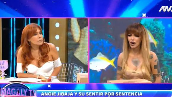 La modelo Angie Jibaja fue al programa de Magaly Medina para hablar de la sentencia contra su agresor Ricardo Márquez. (Foto: Captura de video)