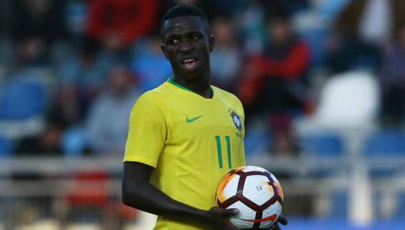 Vinicius Junior jugó en todas las categorías inferiores de Brasil. (Foto: EFE)