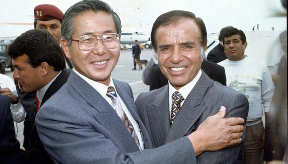 Carlos Menem llegó al Perú en noviembre de 1994. Fue recibido por el presidente Alberto Fujimori. Dos meses después Argentina le vendía armas a Ecuador, que estaba en guerra con el Perú. ( ROLLY REYNA / EL COMERCIO).