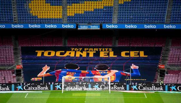 Barcelona rindió un homenaje a Lionel Messi por llegar a 767 partidos con el club. (Foto: FC Barcelona)