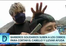 SJL: Barberos solidarios llegan hasta los cerros para cortar cabello y ofrecer víveres
