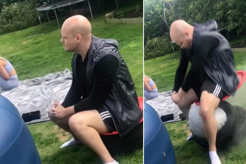 Foto 1 de 3 | El hombre, producto de la broma pesada, acabó con cuatro fracturas en su columna vertebral. (Facebook: Robin Armstrong AKA The Baldy Geordie)