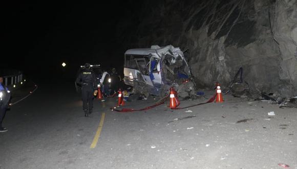 El accidente se produjo en la noche del domingo. (Foto: GEC)