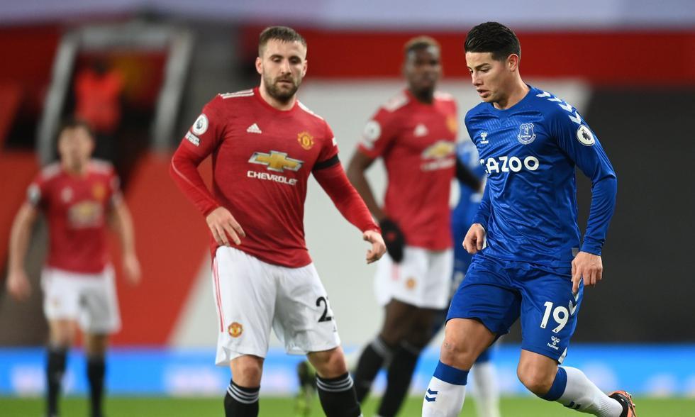 Manchester United vs. Everton: las imágenes del duelo por la Premier League | Foto: EFE
