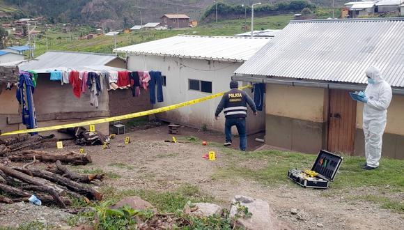 Cusco: Durante las diligencias, la Policía encontró el objeto con el que se habría cometido el crimen. (Foto: PNP)