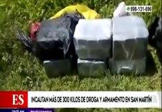 San Martín: PNP incauta más de 300 kilos de droga y descubren pista de aterrizaje clandestina