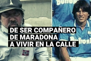 El drama de Pietro Puzone, de ser compañero de Maradona a vivir en la calle