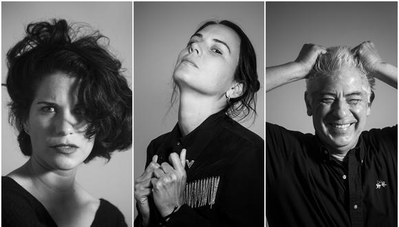 """Eva Bracamonte, Chiara Roggero y Felipe Ossio son unos de los autores que han colaborado en el libro """"Solo se lo diría a un extraño"""". (Foto: Maricé Castañeda)"""