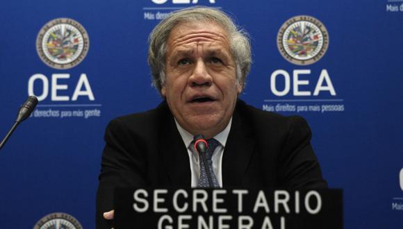 """""""La OEA seguirá atenta para brindar el apoyo que se requiera"""", se explica en el comunicado de la OEA. En la foto Luis Almagro, secretario general de la organización. (Foto: EVA HAMBACH / AFP)"""